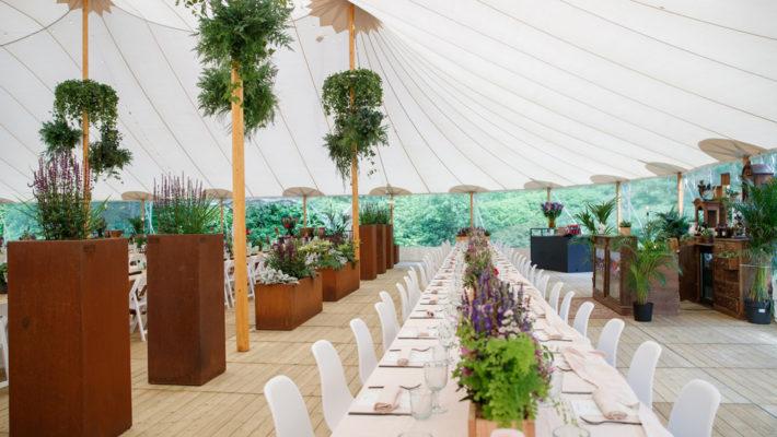 WALFiLii plantenbakken decoreren het event Pascale & guests 2019