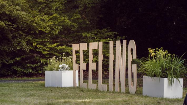 WALFiLii plantenbakken decoreren het event Pascale & Guests in samenwerking met Feeling