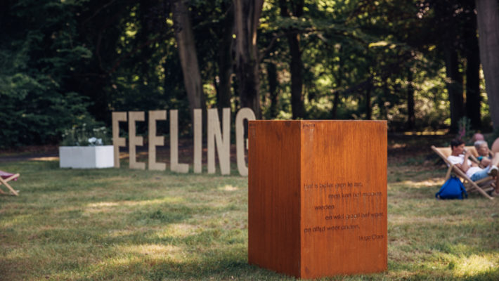 WALFiLii gepersonaliseerde cortenstaal kruidenbak met gedicht van Hugo Claus
